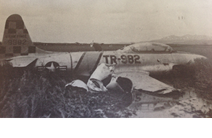 fighter t-33 downed in korea